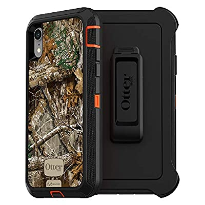 OtterBox DEFENDER SERIES SCREENLESS EDITION Case for iPhone Xr - Retail Packaging - RT BLAZE EDGE (BLAZE ORANGE/BLACK/RT EDGE GRAPHIC