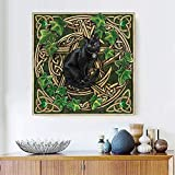 JRGGPO Kit de Pintura de Diamante 5D DIY Bordado Animal Punto de Cruz Pintura Dibujos Animados Rhinestone Mosaico Gato Regalo 45x45cm
