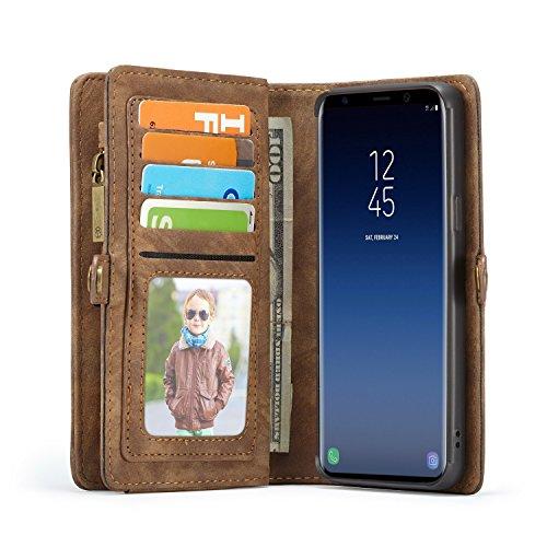 Lobwerk Teléfono Móvil para Samsung Galaxy S9SM de g9605.8Pulgadas Funda Flip Case con Tarjetero Cover Dinero Bolsa Funda de Piel sintética Carcasa Funda