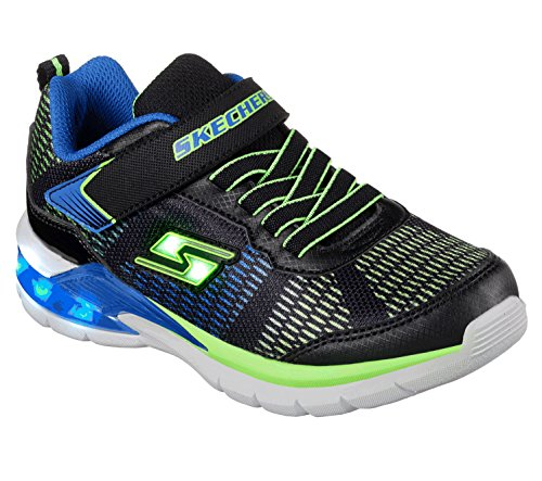 Skechers Boy's Erupters Ii Trainers, Black (Black/Blue/Lime Bblm), 9.5 UK Child (27 EU)