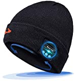 Bluetooth Beanie Hat, Gift Idea for Men Women Christmas Stocking Stuffers, Bluetooth 5.0 Music Hat with Headphones, Bluetooth Cap Tech Gifts for Men Women Him Her Teenager Teen Boys Girls Boyfriend
