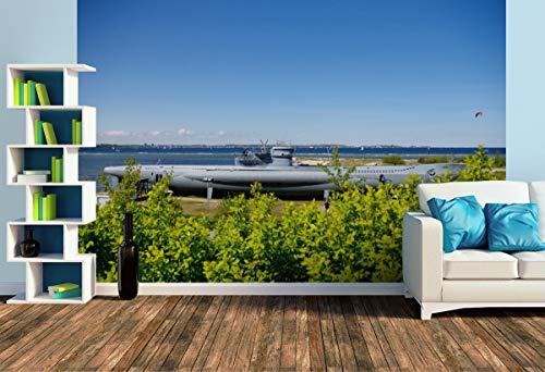 Premium Foto-Tapete U-Boot von Laboe (versch. Größen) (Size L | 372 x 248 cm) Design-Tapete, Wand-Tapete, Wand-Dekoration, Photo-Tapete, Markenqualität von ERFURT