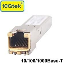 SFP to RJ45 Copper Module - 10/100/1000BASE-T Auto-Negotiation Mini-GBIC Gigabit Transceiver forJuniper QFX-SFP-1GE-T/EX-SFP-1GE-T, up to 100m
