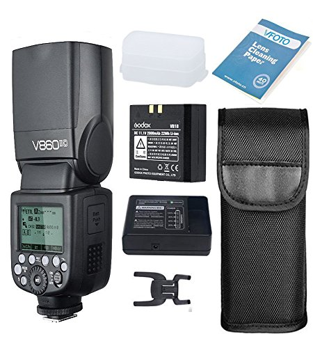 Godox V860II-C Flash Speedlite con Incorporado 2.4G con E-TTL Flash Automático + Li-on...
