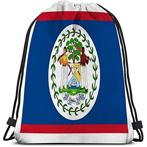 Senderismo Natación Playa Cordón Mochila Bolsa Bandera Belice ai aviable Azul Rojo Blanco Verde Gente Bandera araldic Belice