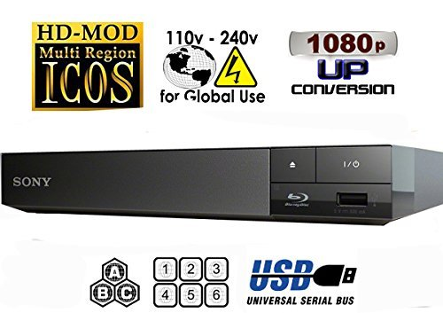 2015 SONY BDP-S1500 Multizone All Region Code Free DVD Blu ray Player - 1 USB, 1 HDMI, 1 COAX, 1 ETHERNET + 6 Feet HDMI Cable Included. Small Size (W x D x H) 199 x 193 x 42 mm. 100~240V 50/60Hz - Comes with the UK Power Supply Worldwide Voltage 100~240V + 2M HDMI Lead Included. UK Power Supply is included by MultiSystem-Electronics, [Importado de UK]