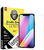 Gorilla guard's HD+ Clear tempered glass screen protector for Apple iPhone X iPhone 10 Ten 5.8inch (Pro series) 8H hardness, oleophobic, UV protect, 2.5D rounded edges, neo coated, free installation kit.