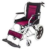ケアテックジャパン 介助式車椅子 CA-22SU ハピネスライト -介助式- (ワインレッド)