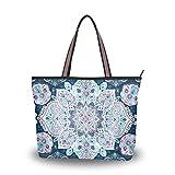 Damen Umhängetasche, indisches Blumenmuster, groß, Handtasche, Strandtasche, Mehrfarbig - Multi -...
