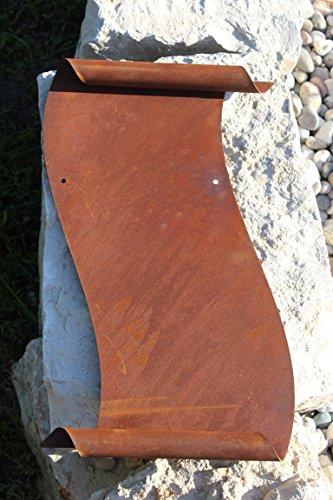 Grand rouleau en métal patiné - Hauteur : 39 cm - Largeur : 24 cm - Personnalisable