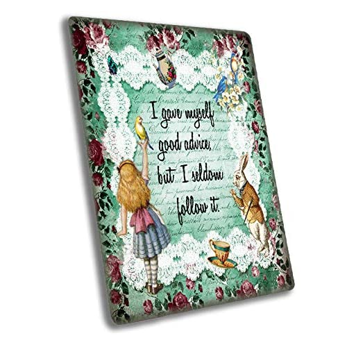 ALICE IN WONDERLAND THE HURRIER I GO METAL TIN SIGN POSTER WALL PLAQUE