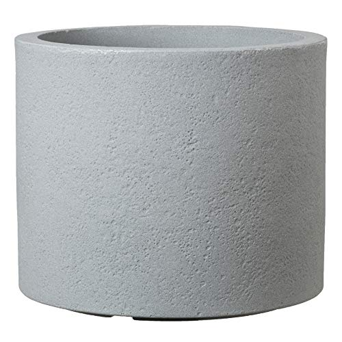 Scheurich Panzano Pflanzgefäß aus Kunststoff, Stony Grey, Ø 40 cm, Höhe 31 cm