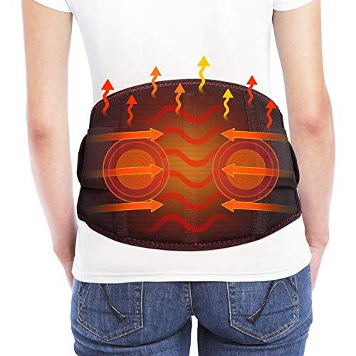 Fbestxie Elektrisch Beheizter Nierengurt, Rückenheizgürtel, 3 Einstellbare Temperatur, Doppelt Einstellbare Kompressionsriemen Zur Linderung Von Schmerzen in Der Lendenmuskulatur