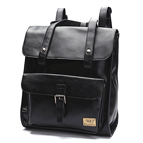 DokinReich Laptop Backpack PU Leather 13.3 Inch Laptop Notebook Rucksack for Women, Men...