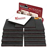 Non Slip Furniture Pads - 12pcs 4'' Furniture Grippers, Non Skid for Furniture Legs,Self Adhesive Rubber Feet Furniture Feet,Anti Slide Furniture Hardwood Floors Protectors