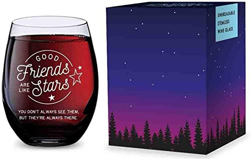 2021 Stemless Wine Glass for discount Best Friend - Made of Unbreakable Tritan Plastic and Dishwasher Safe - new arrival 16 ounces outlet sale
