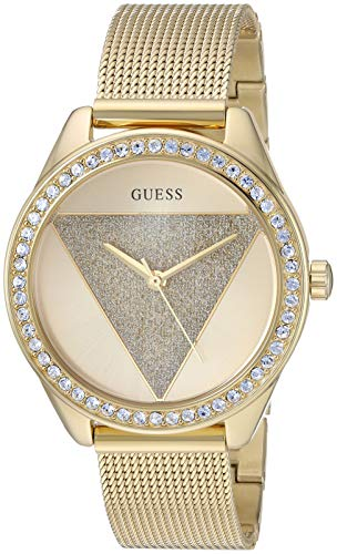 Guess Damen-Armbanduhr, Quarz, Edelstahl, Farbe: goldfarben (Modell: U1142L2)