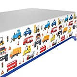 Construction Birthday Party Supplies ,Construction Plastic Tablecloth 1 Pack Construction Car Themed 52x86.6 Inch Table Decoration Table Cloths for Parties