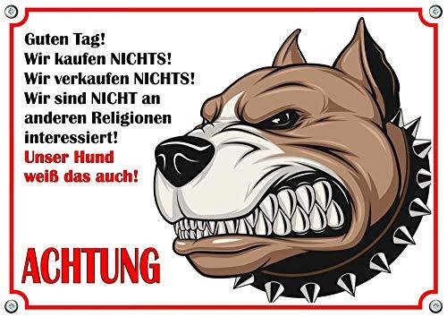 Petsigns Hundeschild - Comic Hund - Warnschild WIR KAUFEN Nichts, DIN A5