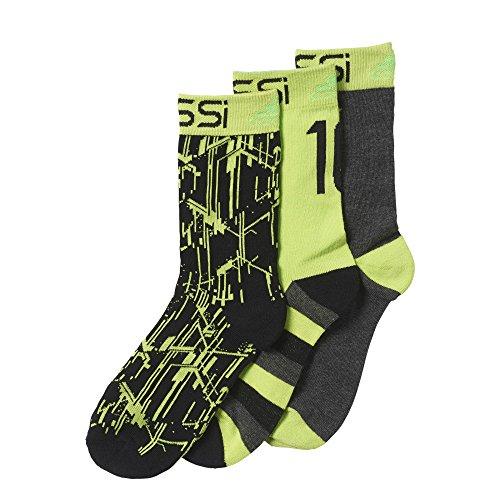 adidas - Radsport-Socken für Jungen in Black/Semi Solar Slime/Solar Green, Größe 27-30