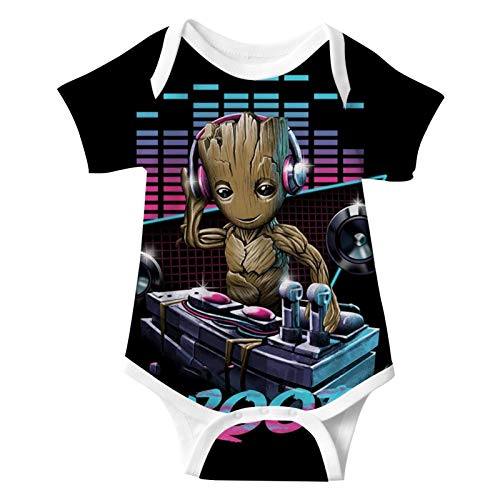 973 Am I Dj Gr-o-ot 3D Print Baby Suit Onesies Infant Short Sleeve Climbing for Toddler