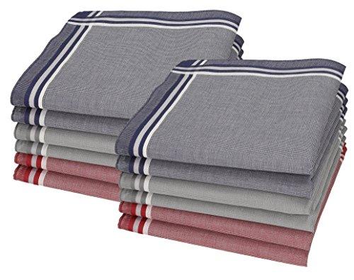 Betz 12 pañuelos para Hombres Leo 3 tamaño 40x40cm 100% algodón Color Dessin 01