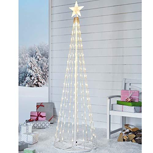 Pureday Decorazione di Natale - Albero di Natale con 202 LED - Moderno - Bianco
