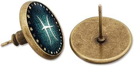 kakupao Zodiac Sign Stud Earrings, Constellation Signs Earrings, Zodiac Sign Jewelry