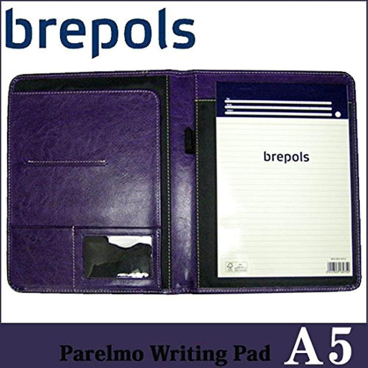 BREPOLS ブレポルス パレルモ ライティングパッド A5 パープル レポートパッドホルダー レポートカバー