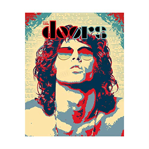 """The Doors Band-Logo Poster- 8 x 10"""" Abstract Silhouette Wall Art Print-Ready To Frame. Vintage Rock Music Print for Home-Office-Studio-Bar-Cave Decor. Great Gift For All Doors-Jim Morrison Fans!"""