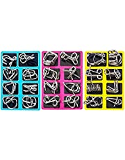 FAVNIC 知恵の輪 魔方 パズル 脳トレ 謎解き 手遊び 知育玩具 リングパズル 教育 勉強 子供 大人 自粛中 暇つぶし (24点セット) 対象年齢:6歳以上