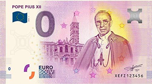 IMPACTO COLECCIONABLES Billete del Vaticano - Billete de 0 Euros del Papa Pío XII