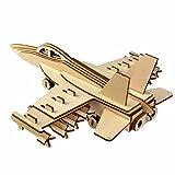 Generic 3D Jigsaw Aircraft Woodcraft Assembly Handicraft Home Decor DIY Model Puzzle IQ Challenger