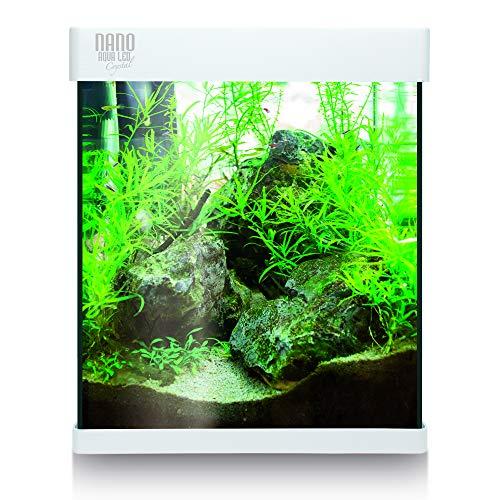 ICA KNA30 NANO Aqualed Crystal  - Kit acuario, Blanco