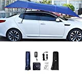 RainMan S Car Universal Fully Automatic Tent Cover Portable Folding Portable Car Protection Car Umbrella 11 ft with UV Protection, 2 Remote Controls
