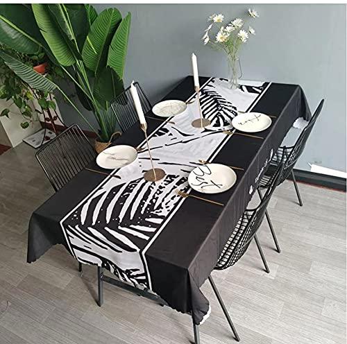 Nappe Feuilles Nappe Imperméable Nappe Rectangulaire Table À Manger Couverture Cheminée Comptoir 140X220Cm