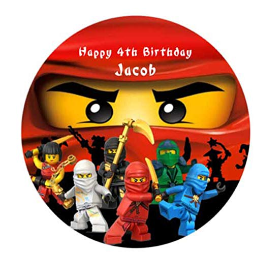 Red ninja cake topper edible icing sugar 7.5 inches