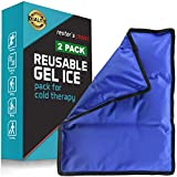 Gel Cold & Hot Pack - 11x14.5' (2 Pack) Reusable Warm or Ice Packs for Injuries,...