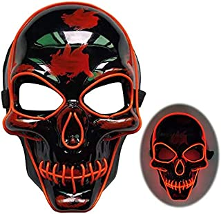 fumak Masquerade Mask - Halloween Party LED Costume Mask Masque Masquerade Masks Neon Mask Light Glow in The Dark Mascara Glowing Masker Horror Purge