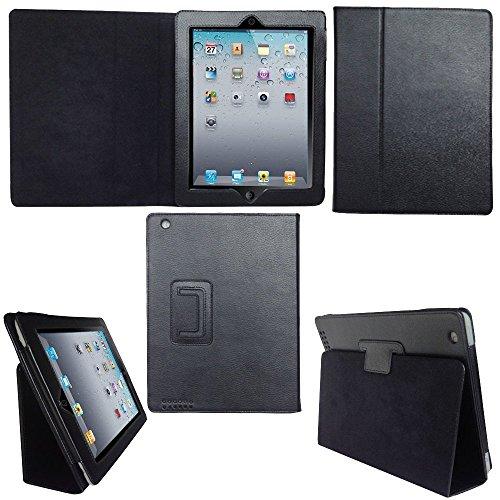 Cover magnetica smart case per iPad Retina Display da 9,7 pollici rilasciata alla fine del 2013 e all'inizio del 2014 con protezione per lo schermo, qualità suprema (nero)