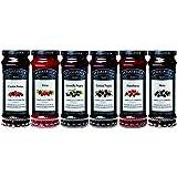 St. Dalfour - Pack Combinado de 6 Mermeladas de Sabores de Frutas del Bosque - Mermeladas de Cereza Negra, Frambuesa, Fresa, Mora, Grosella Negra, y 4 Frutas - 6 x 284 g