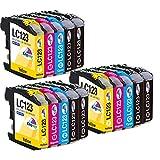 Kingway LC123 LC123XL LC-123 - Cartuchos de impresora compatibles con Brother MFC-J6520DW, DCP-J4110DW, MFC-J4410DW, MFC-J470DW, MFC-J870DW, DCP-J132W, MFC-J4510DW, DCP-J552DW