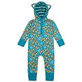 Piccalilly Enterizo con capucha para bebé, suave jersey orgánico, diseño de zorro unisex para niñas y niños