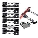 Verstellbare Kabelhalter Set Management,Kabel Clips von Kabelbefestigung Drahthalter mit Klebstoff...