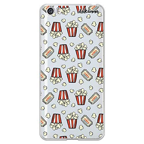 dakanna Funda Compatible con [Xiaomi Mi5 / Mi 5] de Silicona Flexible, Dibujo Diseño [Patron de Palomitas y entradas de Cine Vintage], Color [Fondo Transparente] Carcasa Case Cover de TPU, Smartphone