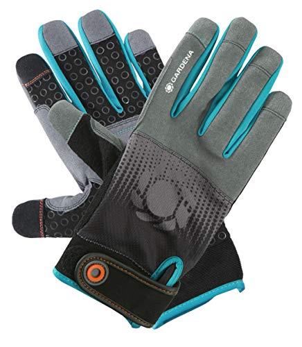 GARDENA Gerätehandschuh Größe 10/XL: Handschuhe für alle Arbeiten mit Geräten, optimaler Grip, stoßdämpfende Pads, Mesh-Gewebe, mobile touch für Smartphonenutzung (11522-20)