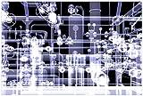 Wallario Poster - Transparente Maschine unter Röntgen mit