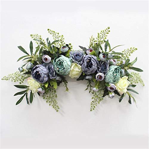 Kunstmatige krans deur drempel bloem DIY bruiloft huis woonkamer partij hanger wand decor Christmas garland cadeau steeg pioenroos, A8