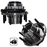 Detroit Axle - 4WD SRW Front Wheel Hub Bearings Replacement for Ford F-250/350 Super Duty Excursion[Fine Thread w/ABS] - 2pc Set