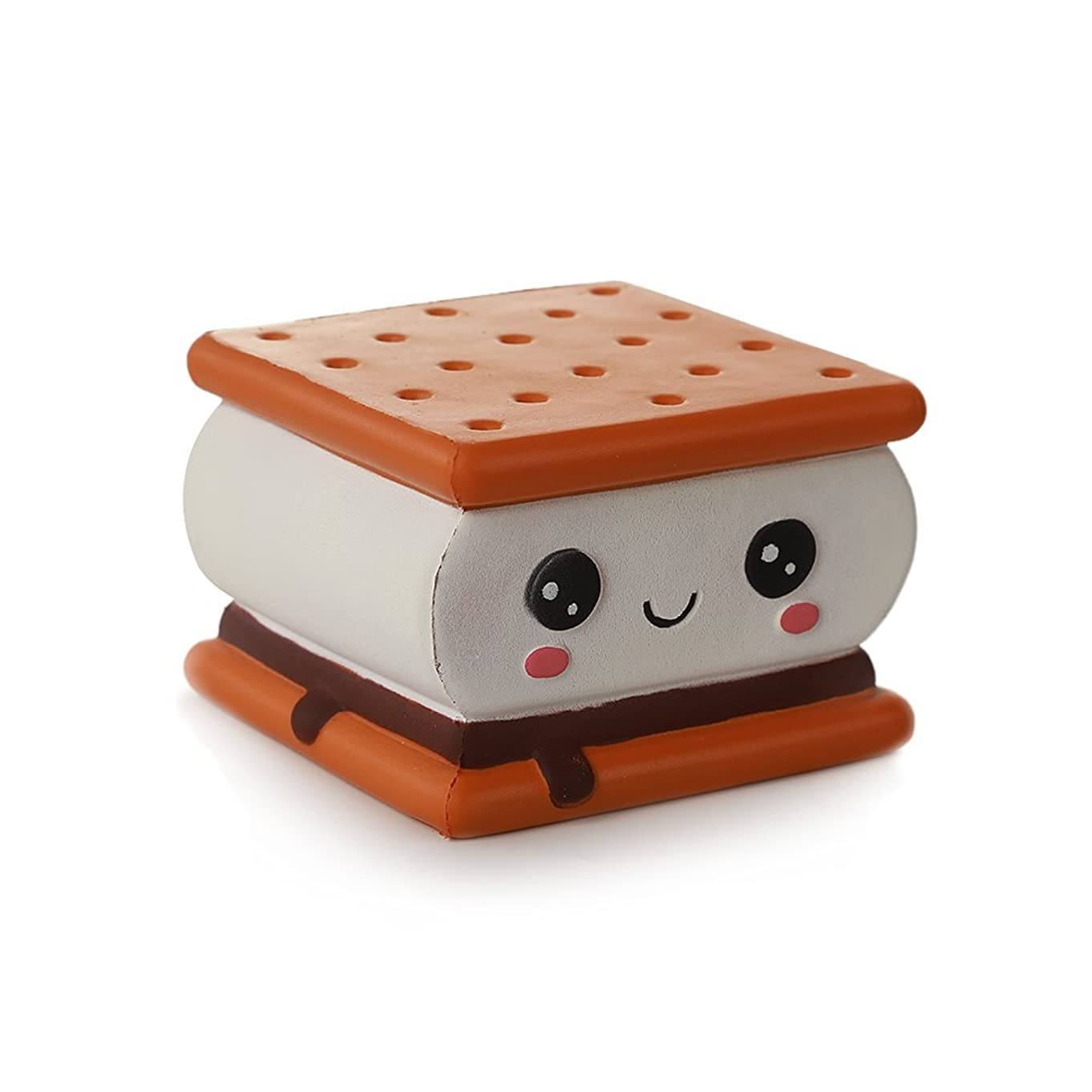 Anboor Squishies Cake Chocolate Sandwich Biscuit Cookies Pizza Kawaii Soft Slow Rising Scented Food Bread Squishies Stress Relief Kid Toys Gift Collection